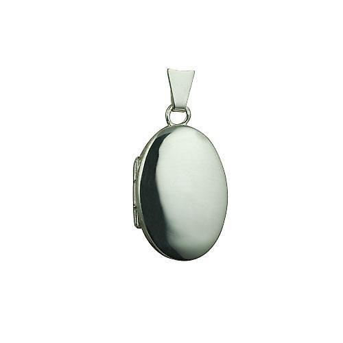 Silver 22x15mm plain oval Locket