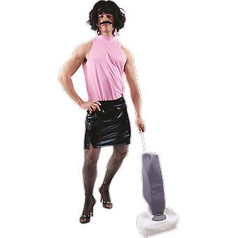 Mens Freddie Mercury Rock Star Housewife 80s Queen Fancy Dress Costume