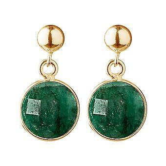 Gemshine oorbellen groen smaragd edelstenen in 925 zilver, verguld of Rose