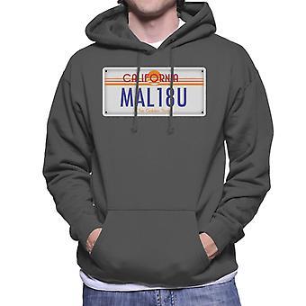 Malibu California targa felpa con cappuccio
