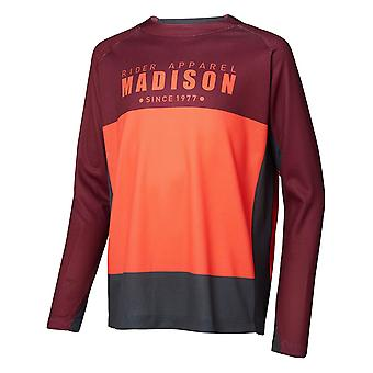Madison Andorra Red-Chilli Red 2018 Alpine Kids Long Sleeved MTB Jersey