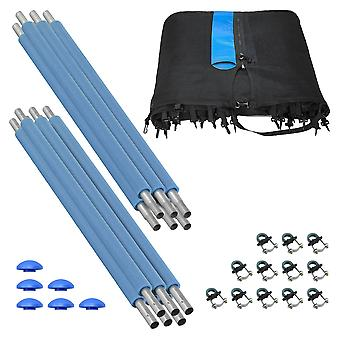 Upper Bounce Trampoline Enclosure Set (6 Poles) to fit 10 FT. Trampoline Frames with set of 3 or 6 W-Shaped Legs (Trampoline Not Included)