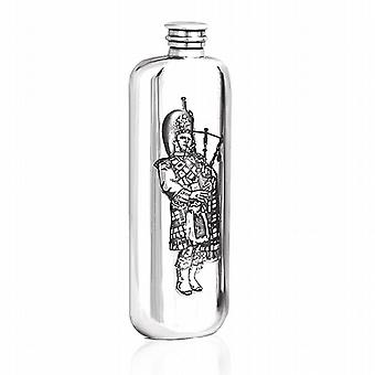 3Oz Top Pocket Piper Flask Pewter - Sg107