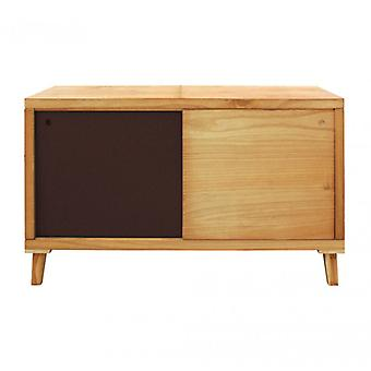 Rebecca Furniture Mobile Tv Madia Low Brown 2 Ante contemporary Wood Hall