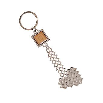 Minecraft Keyring Keychain Axe Black Logo new Official Gamer Metal