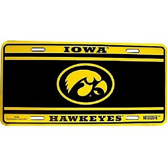 Iowa Hawkeyes NCAA Team Color License Plate