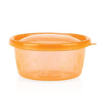6 Coloured Bowls With Lids (diameter 12cm Ca.) Food for Babies. Easy to Carry Around
