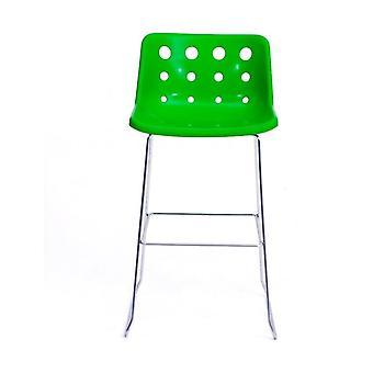 Loft Robin Day Skid Green Plastic Polo Bar Sgabello