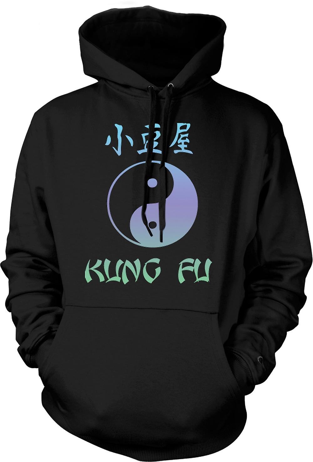 Mens Hoodie - Kung Fu - Ying Yang