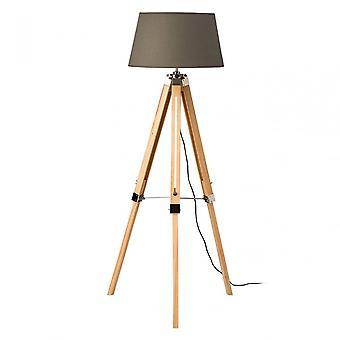 Premier Home statief vloer lamp, hout, grijs