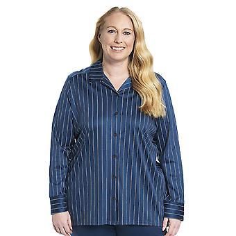 Rosch 1194534-16504 Women's Curve Denim Blue Cotton Pyjama Top