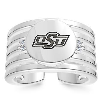 Oklahoma State University Oklahoma State University Logo grabado anillo de manguito multibanda