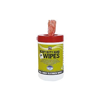 Portwest heavy duty hand wipes (50 wipes) iw30