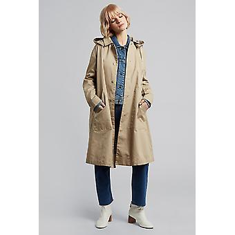 Louche Louisette Removable Hood Rain Mac Coat Beige