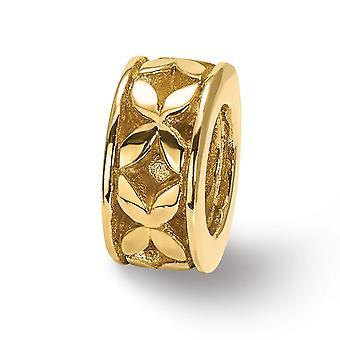 14k Yellow Gold Polished Reflections SimStars X Bali Bead Charm