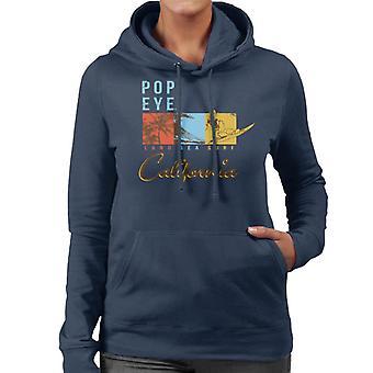 Popeye Land Sea Surf California Women's Hooded Sweatshirt