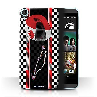 STUFF4 Case/Cover for HTC Desire 820s Dual/Canada/Montr�al/F1 Track Flag