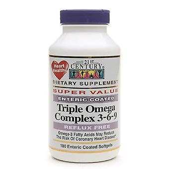 21st century enteric coated triple omega complex 3-6-9, softgels, 180 ea