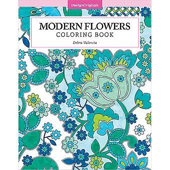 Design Originals-Modern Flowers Coloring Book DO-5535