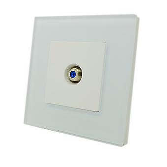 I LumoS Luxury White Glass Virgin, Sky Satellite F Screw Type Single Socket