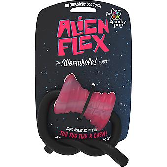 Spunky Pup Alien Flex Candy Scented Rubber Toy-Wormhole SP811-4