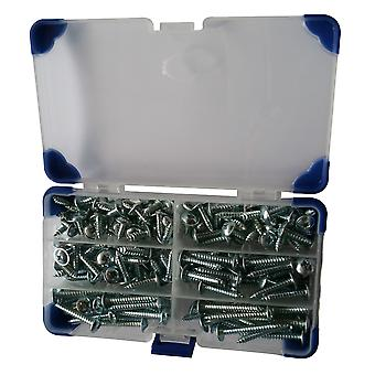 180 Piece No.10 (4.8mm) Zinc Plated Flanged Self Tapping Screws