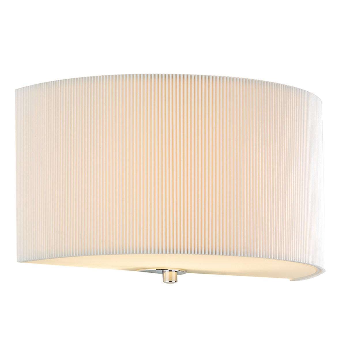 Dar ZAR0133 Zaragoza Cream Cotton Micro Pleat Wall Light