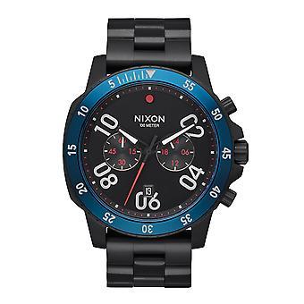 Nixon die Ranger Chrono schwarz / blau (A549602)