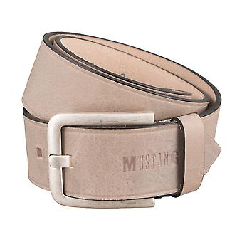 MUSTANG belts men's belts leather belts, beige 2844