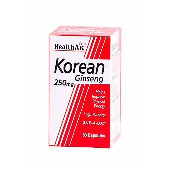Health Aid Korean Ginseng 250mg ,  50 Capsules