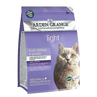 Arden Grange korn frie kat lys med frisk kylling & kartoffel 400g (pakke med 6)