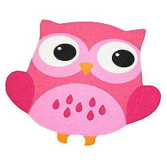 Children short-pile carpet OWL in the contour cut pink / pink 101833