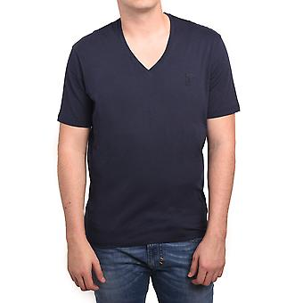 Versace Collection Men Medusa V-Neck Tee T-Shirt Blue
