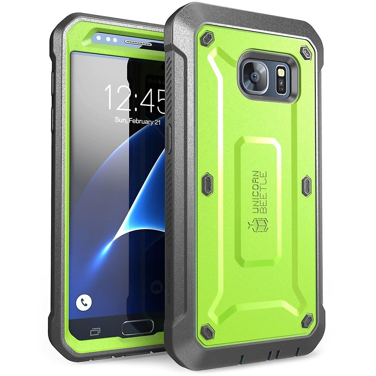 Samsung Galaxy S7 Case, SUPCASE,Unicorn Beetle Pro Series, Full-body Built-in Screen, S7 Case, Galaxy S7 Case-Green/Gray