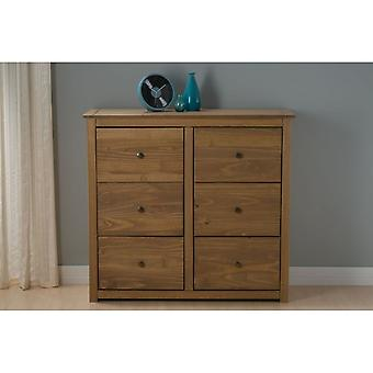 Birlea Santiago 6 Drawer Chest Pine