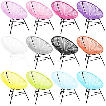 Charles Bentley Garden Furniture Retro Lounge Single Chairs - Available In 12 Colours