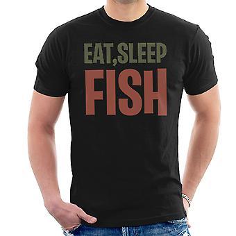 Eat Sleep Fish Men's T-Shirt