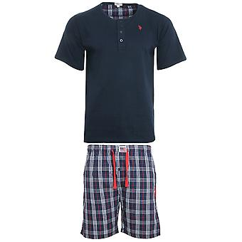U.S. POLO ASSN. Pajama set underwear men's sleep suit short blue 152 43666 51884 577
