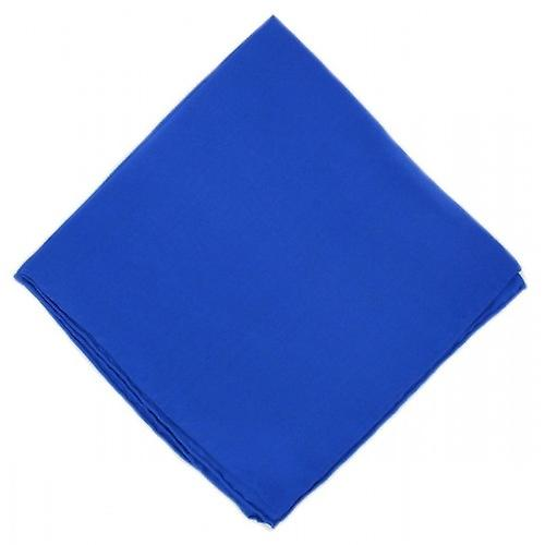 Michelsons of London Plain Silk Handkerchief - Blue