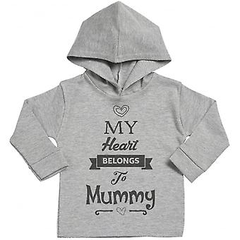 Spoilt Rotten My Heart Belongs To Mummy Cotton Hoodie
