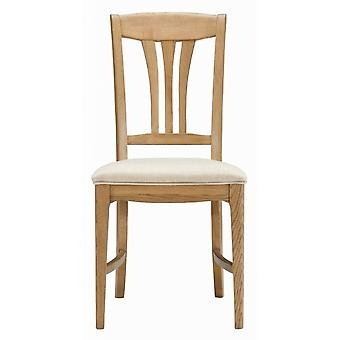 Direct Home Living Orvieto Oak Wooden Dining Chair With Cushion