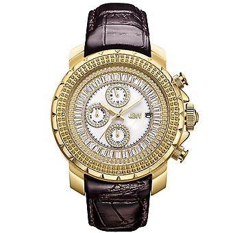 JBW men's diamond watch with Swarovski crystals gold Brown