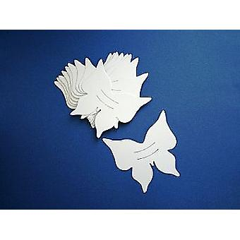 10 White Card Butterfly Finger Puppets | Kids Insect & Bug Crafts