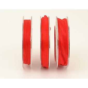 15mm Organza Craft Ribbon - 10m Reel - Christmas Red | Ribbons & Bows for Crafts