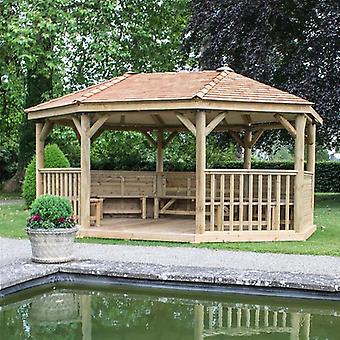 Oval 5.1m Wooden Garden Gazebo