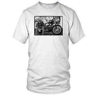 Ragazza sexy su Hog classico Moto Biker Ladies T Shirt