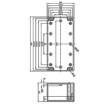 Fixapart deposito scatole 80 x 160 x 55 ABS mm