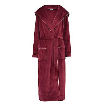 Slenderella GL8746 Women's Rasberry Red Robe Long Sleeve Dressing Gown