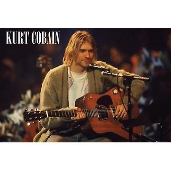 Kurt Cobain - Unplugged affisch affisch Skriv