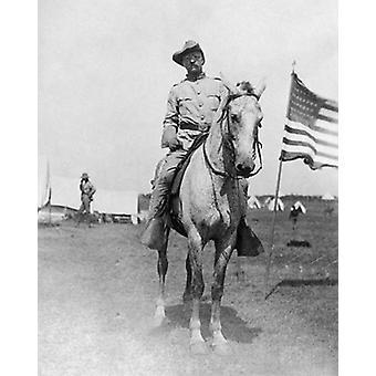 Theodore Roosevelt Rough Riders Montauk Point NY 1898 Poster Print von McMahan Foto-Archiv (8 x 10)